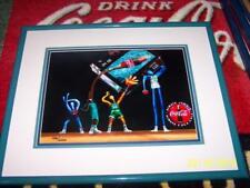 RARE Coca Cola NBA Coke ART Frame Picture Basketball Set Cel 166/2000 LTD Print