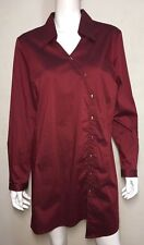 ts 14+ TAKING SHAPE claret longline stretch shirt~ size 14