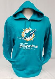 BRAND NEW Majestic Men's NFL Miami Dolphins Pullover Hooded Sweater