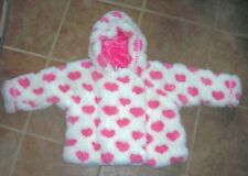 WIDGEON  toddler girl COAT  pink, white  24MO  faux fur  smoke free
