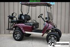 EZ GO TXT Custom Gas Golf Cart CUSTOM Lifted, LED Lights, Rear Seat