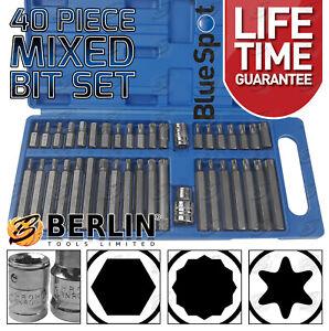 "Hex Torx Star & Spline BIT Socket Set 3/8"" & 1/2""dr Long & Short Reach Allen Key"