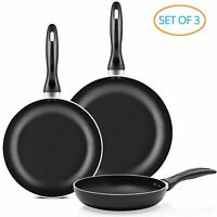 """Chef's Star Professional Grade 3 Piece Non-stick Frying Pan Set  8"""" 
