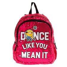 Despicable Me 3 Minions Pink Sequin Backpack Bookbag Dance Like You Mean It Nwt
