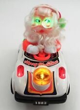1983 Son Ai Toys Bump & Go Lighted Musical Psycho Santa Claus Driving Bumper Car