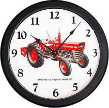 "New 1964 MASSEY FERGUSON Model 135 Tractor Wall Clock 14"" Restored Vintage Air"