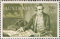 Australia MNH 1966 Navigator 75c Captain James Cook Explorer Stamp variety issue