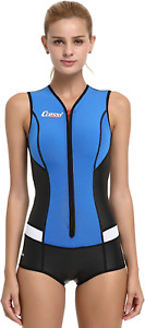 Cressi Women's Idra Neoprene Swimsuit 2mm, Blue, L/4