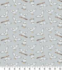 Harry Potter Magical Moments Hedwig Grey 100% Cotton Fabric FAT QUARTER