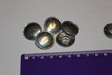 Pewter Flat Lipped Buttons 23mm Historical Reenactment Medieval Tudor UK Made