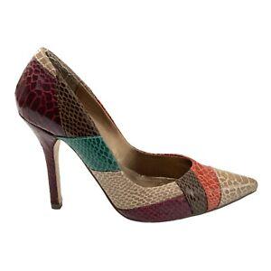 Novo Leather Stiletto Heels Patchwork Shoe Size 6
