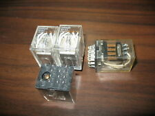 Lot of 4 Omron MY4Z Cube Relays (14 Pin, 24VDC Coil)