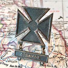 VIETNAM WAR US ARMY MARKSMAN BADGE  GRENADE BAR 1/20 SILVER FILLED KREW G-I