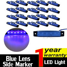20x Blue 12V 6 LED Side Marker Indicators Lights Lamp For Lorries Truck Trailer