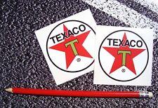 TEXACO Classic Round Oil Stickers F1 MOTO GP Superbikes LE MANS Classic Cars