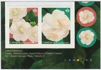GARDENIA flowers = Booklet Bottom Pair w/ inscr & color MNH Canada 2019 #3169-70