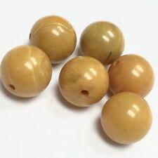Vintage Bakelite Beads - Creamed Corn Yellow 9mm - 19831