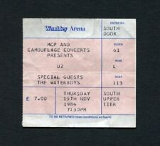 1984 U2 Waterboys Concert Ticket Stub London Wembley Uk Unforgettable Fire Tour
