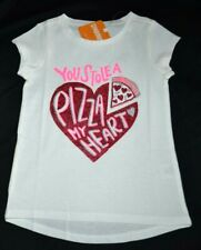 Gymboree Valentine's Day You Stole a PIZZA of My HEART Shirt 10 12 Kid Girls NWT