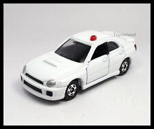 TOMICA 52 54 SUBARU IMPREZA WRX STI POLICE CAR 1/59 TOMY NEW DIECAST CAR WHITE