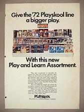 Playskool Toys PRINT AD - 1971 ~ 1972 Play & Learn Line