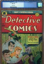 DETECTIVE COMICS #79 - BATMAN - SIMON / KIRBY BOY COMMANDOS - CGC 6.0 - 1943