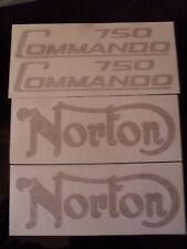 NORTON COMMANDO 750 DECALS IN GOLD