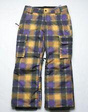 Burton Boys Exile Cargo Snowboard Pants (M) Sizzurp Revolt Plaid