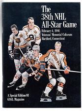 National Hockey League NHL 38th All Star Game Program 1986 Veterans Coliseum