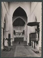 Thaxted.  Parish Church. Alter.  Nave. RP  Essex postcard. ab10
