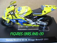 MOTO 1/24 IXO GP HONDA RC 211 V #3 MAX BIAGGI 2003 MOTORCYCLE
