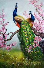 CHOP93 huge Animals Peacock 100% hand-painted oil painting art canvas
