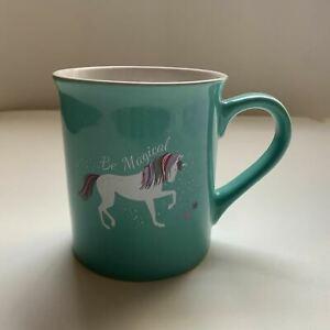 """Be Magical""~ Love Your Mug ~Unicorn ~Turquoise w/ Stars Inside ~Coffee Mug ~EUC"