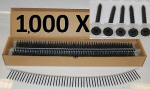 Firmahold Collated Drywall Screws 45 x 3.5mm Phillips Coarse X 1000: 154501