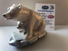 Wade Winter Wonderland Mother Bear And Cub Plus Certificate