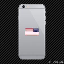 Reverse American Flag Cell Phone Sticker Mobile america usa opposite left