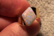 -Unikat- 750er Gold-Ring mit Multicolor Edelopal mit Video !!