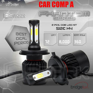 72W 8000LM US BridgeLux Chip LED Kit 6000K Headlight Hi Lo Bulbs H4 HB2 9003 (1)