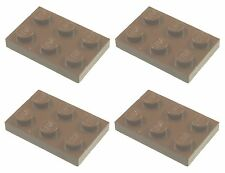 Missing Lego Brick 3021 OldBrown x 4 Plate 3 x 2 with Hole