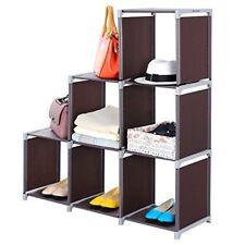 6 Cube Storage Organizer Shelf Grids Store Cabinet Bookcase Dorm Room Dark Brown