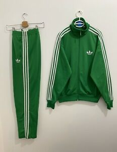 Adidas Originals ADI-Firebird Tracksuit Green White Size S