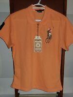 Polo Ralph Lauren Big Pony Logo Womens Slim Fit Polo Shirt Pink Size XXL NWT