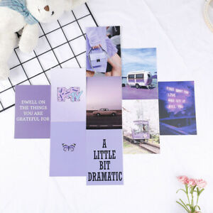 Printed Wall Collage Kit Pink & Purple room decor 50 Images Dorm Art PriSG