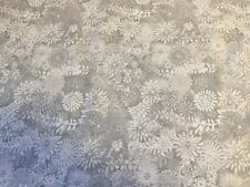 Forest Floral  SILVER GRAY quilters cotton Fabric per yd  by Studio