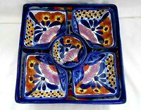 Talavera Puebla Mexico 6 Piece Appetizer Condiment Platter Tray Unused w1s1