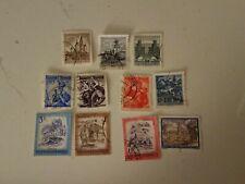 Austria Republik Osterreich Stamps Set Of 11 1951-1984 red, blue, brown, purple