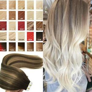 NCLE Tape In Straight Glossy Remy Human Hair Extension Straight Glossy