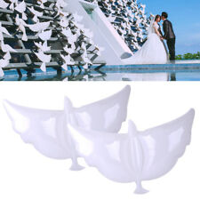 2Pcs Wedding Flying Pigeon Bird White Peace Dove Foil Balloons Party Decoration