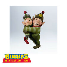 Elf Brothers Disney Prep & Landing 2012 Hallmark Ornament Wayne Lanny Santa Crew