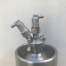 Stainless steel ball lock disconnect gas liquid pair 1/4 MFL mini keg spear beer